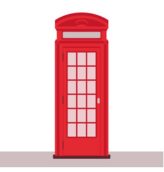 red telephone booth vector image