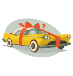 Retro car is a present vector