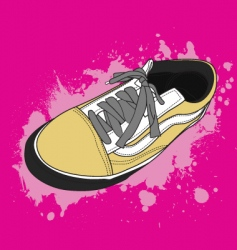 retro shoes vector image