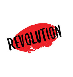Revolution rubber stamp vector