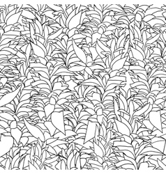 Seamless pattern with algae vector