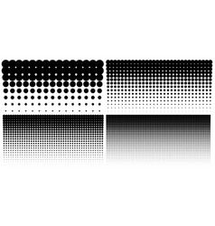set of vertical gradient halftone dots backgrounds vector image