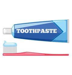 set teeth care vector image