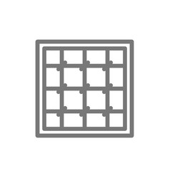 Simple prison cell line icon symbol and sign vector