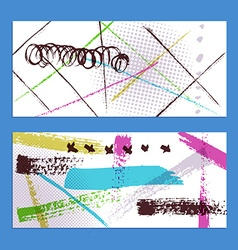 Sketch abstract banners vector image