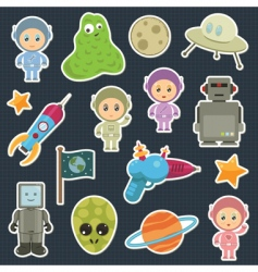 Space stickers vector