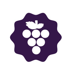 Sticker delicious grape fruit icon vector