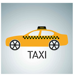 taxi icon taxi service taxi car grey and white vector image