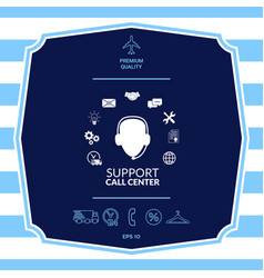 Technical support operator flat icon graphic vector