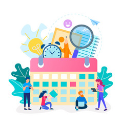 time management concept team work office vector image