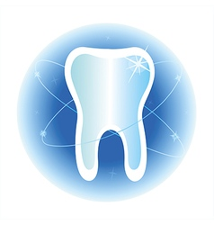 tooth dental care symbol icon vector image