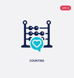 two color counting icon from blogger and vector image