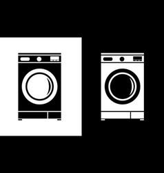 washing machine icon flat minimalist style vector image