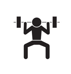 weight lifting man black concept icon vector image