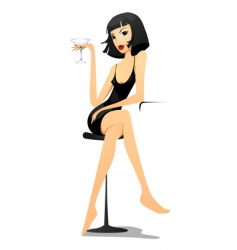 woman vamp vector image