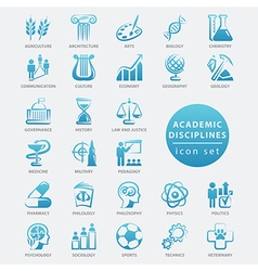 Academic disciplines icon vector image
