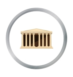 Antique greek temple icon in cartoon style vector image