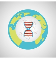 concept science lab dna medical icon graphic vector image vector image