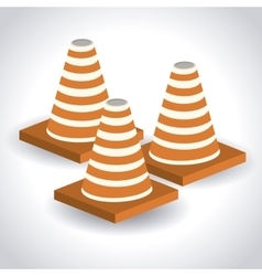 cones isometric design vector image