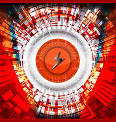 cyber concept digital energy vector image