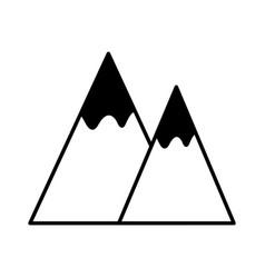 mountains landscape symbol vector image