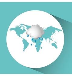 Weather concept forecast cloud rain icon design vector