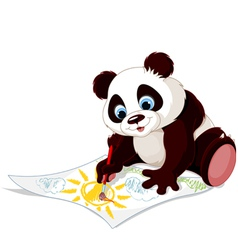 Cute panda drawing picture vector image