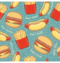 fast food seamless pattern background food texture vector image