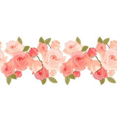 seamless pattern with pink roses vector image vector image