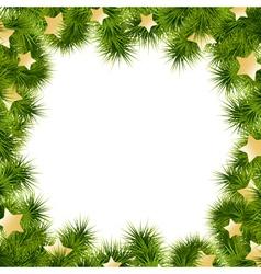 christmas card border vector image vector image