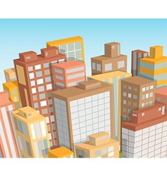 city landscape isometric view vector image
