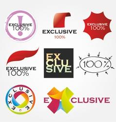 exclusive company logos vector image vector image