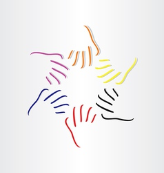 human hands all races vector image