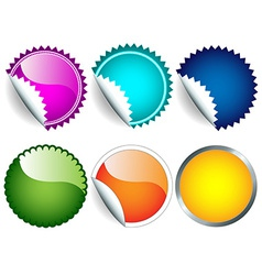 Sticker set vector image vector image
