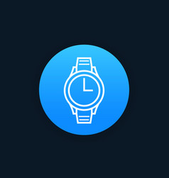 watch icon linear style vector image vector image