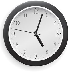 white clock vector image vector image