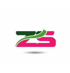 Alphabet Z and S letter logo vector image vector image