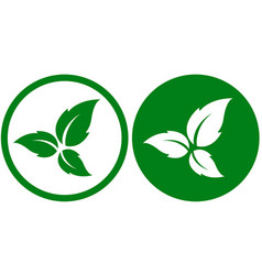 eco icons with leaves vector image