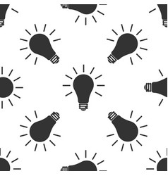 light bulb icon seamless pattern on white vector image vector image
