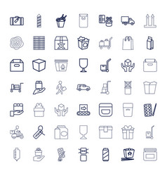 49 package icons vector