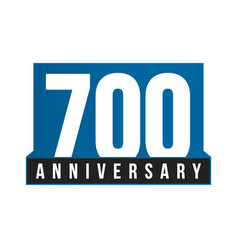700th anniversary icon birthday logo vector