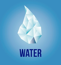 A single drop water and some text on a blue bac vector