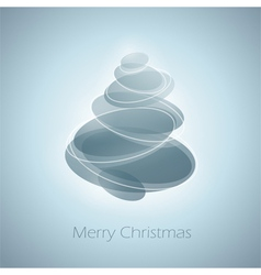 Abstract shiny christmas tree in light blue vector image