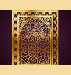 Background with arabic pattern vector