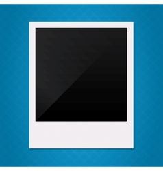 Blank retro polaroid photo frame vector image