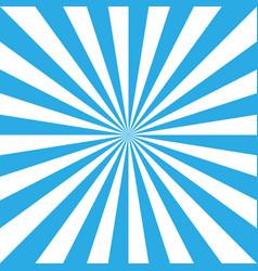 blue and white retro sunburst background sun vector image