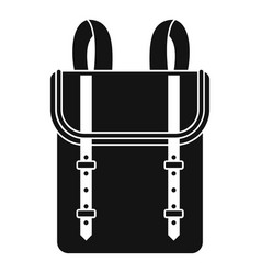 Boy backpack icon simple style vector