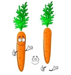 Cartoon happy orange carrot vegetable vector