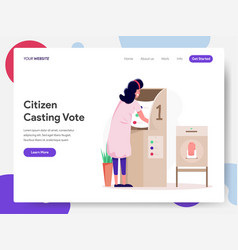 citizen choosing candidate or vote vector image