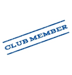Club Member Watermark Stamp vector image